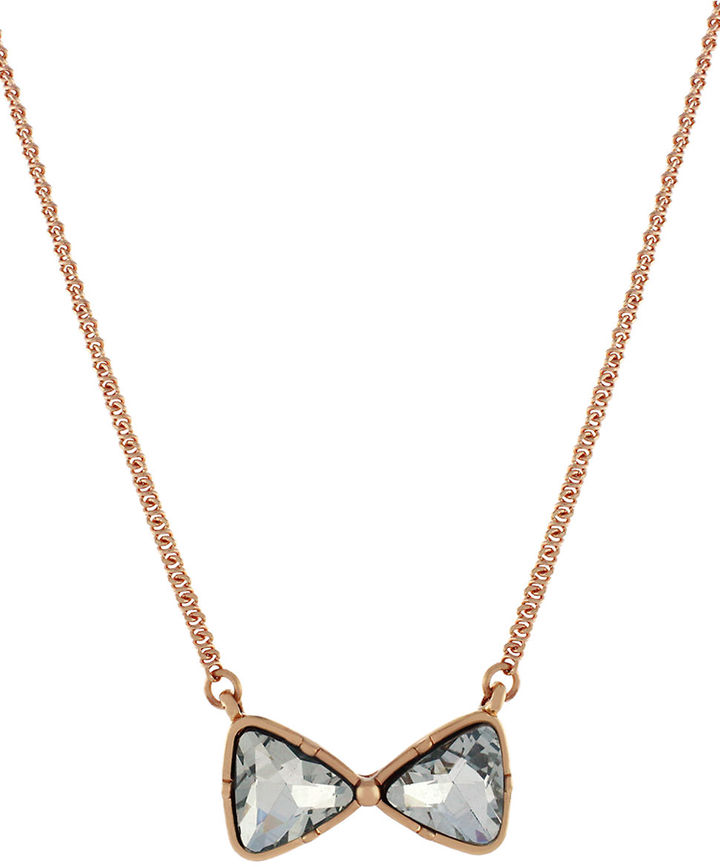 BCBGeneration Rose Gold-Tone & Crystal Pendant Necklace