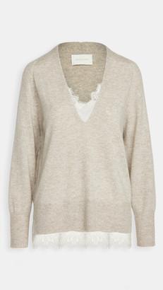 Brochu Walker Lace Vee Looker Pullover Sweater