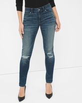 White House Black Market Curvy Distressed Skinny Jeans