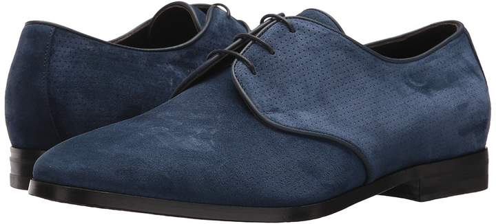 Canali Perforated Suede Oxford