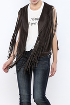 Umgee USA Fringed Cropped Vest