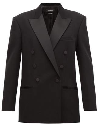 Isabel Marant Peagan Double-breasted Wool Tuxedo Jacket - Womens - Black