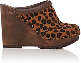 See by Chloe WOMEN'S HAIRCALF PLATFORM-WEDGE CLOGS