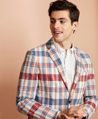 Brooks Brothers Madras Cotton Two-Button Sport Coat