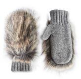 Stella McCartney fur free fur gloves