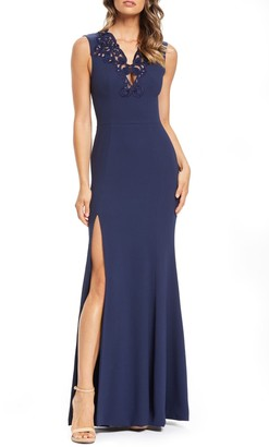 Dress the Population Cassandra Embroidered Evening Dress