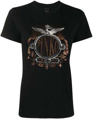 Pinko graphic print round neck T-shirt