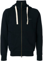 Sun 68 roll neck zip hoodie