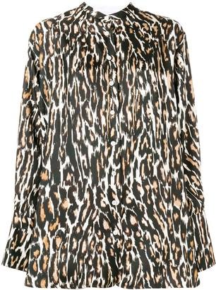 Calvin Klein Leopard Print Blouse