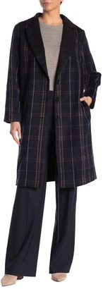 Amour Vert Kaylyn Plaid Wool Blend Coat