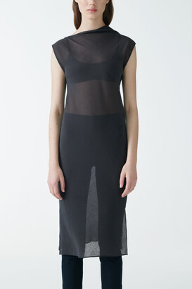 Cos Sheer Cotton-Silk Slip Dress