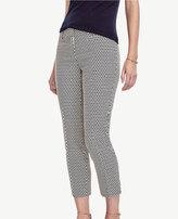 Ann Taylor Devin Jacquard Cropped Pants