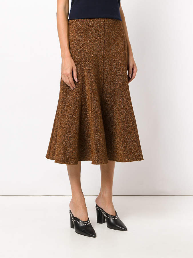 Pringle melange flared skirt