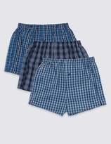Marks and Spencer 3 Pack Pure Cotton Assorted Boxers