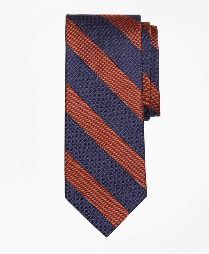 Brooks Brothers Textured Framed Stripe Tie