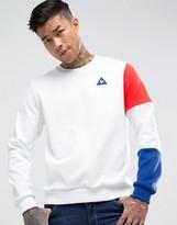 Le Coq Sportif Tricolore Crew Sweatshirt In White 1710524