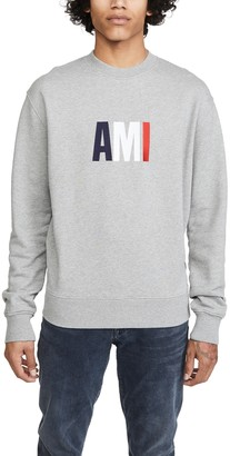 Ami Large Logo Crew Neck Sweatshirt