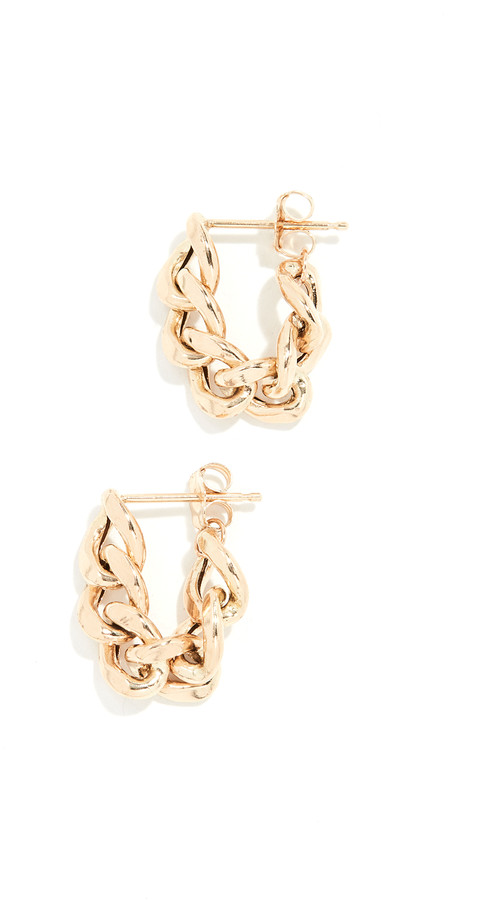 Thumbnail for your product : Zoë Chicco 14k Gold Chain Hoop Earrings