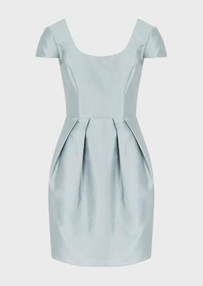 Emporio Armani Darted Dress In A Radzimir/Silk Blend