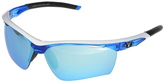 Tifosi Optics Vero (Skycloud Frame Clarion Blue/AC Red/Clear Lenses) Athletic Performance Sport Sunglasses