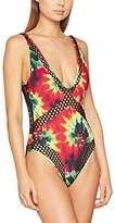 Jaded London Women's Rasta Tie Dye Mesh Insert Swimsuit