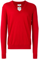 Maison Margiela classic v-neck jumper - men - Cashmere - XL