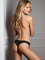 Sexy Smooth Raw Cut Lace-back Thong Panty