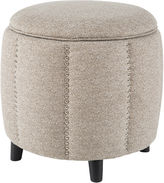 Madison Park Easton Scallop Storage Ottoman