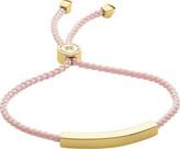 Monica Vinader Linear 18ct gold-plated woven friendship bracelet