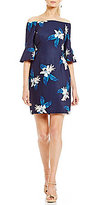 Antonio Melani Darleen Printed Crepe Off the Shoulder Dress