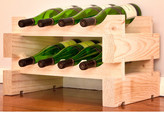 Wine Rack 8 2 Layers of 4 Bottle Width Finish: Natural Pine