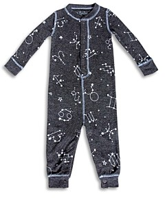 PJ Salvage Unisex Star Sign Print Pajama Coverall - Baby