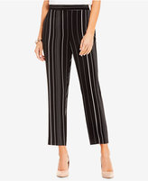 Vince Camuto Cropped Pencil-Striped Pants