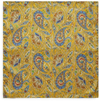Eton Silk Paisley Medallion Pocket Square