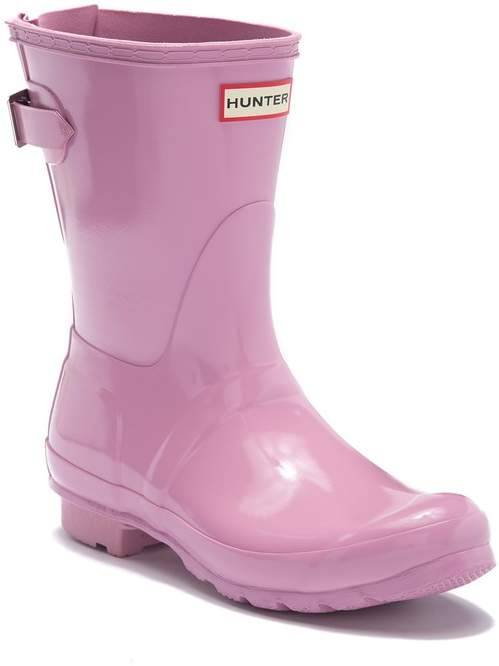 9ee5a8012f3 Short Adjustable Back Gloss Waterproof Rain Boot