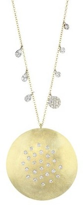 Meira T 14K & 18K Yellow Gold & Diamond Disc Pendant Necklace