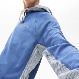 Lacoste Men's Paneled Print-Blocked Hooded Sweatshirt