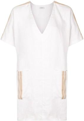 Venroy Patch-Pocket V-Neck Dress