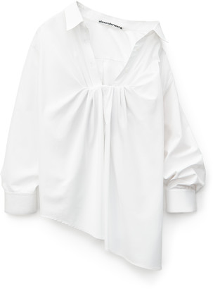 Collection Tucked Bust Oxford Blouse