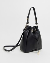 Asos Design ASOS DESIGN bonded bucket bag-Black