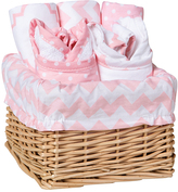Trend Lab Pink Sky Feeding Basket Gift Set
