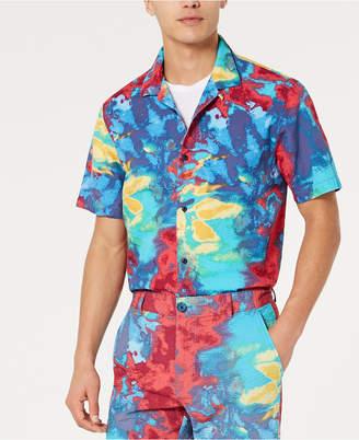 American Rag Men Tie Dye Seersucker Camp Shirt