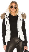 SAM. Raccoon Fur Matte Legacy Vest in Ivory. - size L (also in M,S)