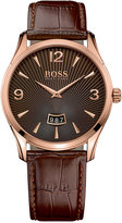 BOSS Men's Commander Brown Leather Strap Watch 41mm 1513426