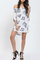 Blu Pepper Off Shoulder Floral Dress