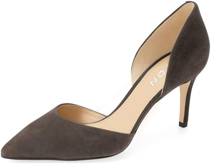 e5e2d57616b YDN Women's Classic Pointed Toe D'orsay Pumps Slip On Suede Low Heel  Dressing Stilettos Shoes 8