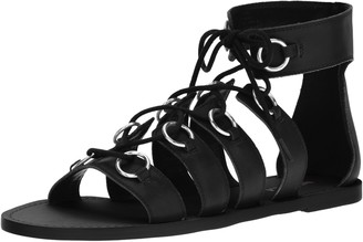 Nine West Women's Tayah Leather Gladiator Sandal
