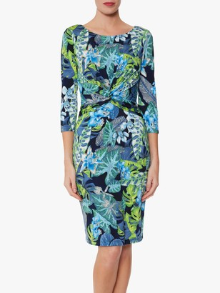 Gina Bacconi Glynda Jersey Dress, Blue/Green