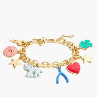 J.Crew Mixed charms bracelet