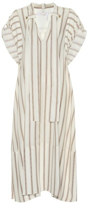 Chloé Striped silk crepe dress